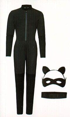 Catwoman Kostüm vierteilig S (36/38) Superheldin Supergirl Fasching Karneval