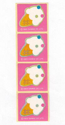 Strip of Four Vintage Sanrio Ice Cream Cone Stickers