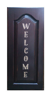 WELCOME Wood Sign Rustic Country Farmhouse Wall Home Decor housewarming -