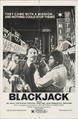 BLACKJACK one sheet movie poster 27x41 BLAXPLOITATION 1978 RARE