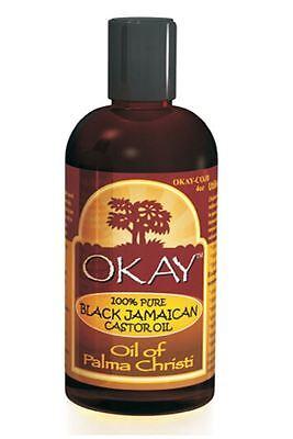 Okay Jamaican Castor Oil, Black, 4 Ounce