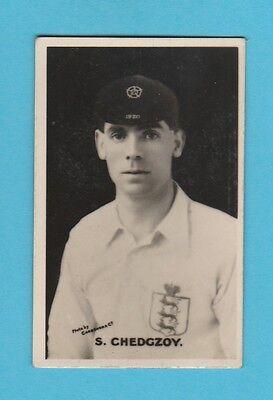 FOOTBALL - D.C. THOMSON - BRITISH FOOTBALLER CARD  -  S.  CHEDGZOV   -  1925