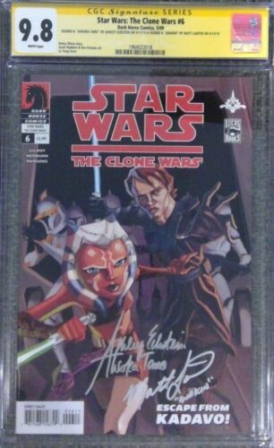 Star Wars: The Clone Wars #6_CGC 9.8 SS_Signed by Ashley Eckstein & Matt Lanter
