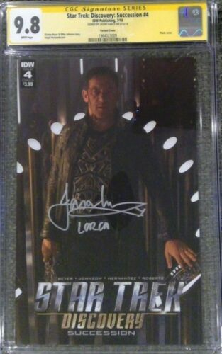 Star Trek: Discovery - Succession #4 photo cvr_CGC 9.8 SS_Signed by Jason Isaacs