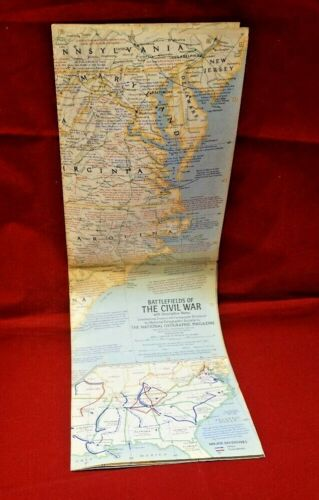 1961 National Geographic Battlefields of the Civil War with Notes (#520)
