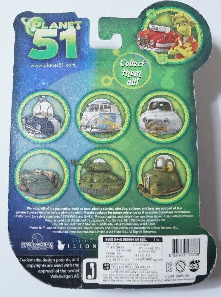 JAZWARES PLANET 51 Tank /& Military Truck Mini Vehicle New