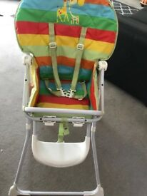 Mothercare baby high chair, excellent condition with a table