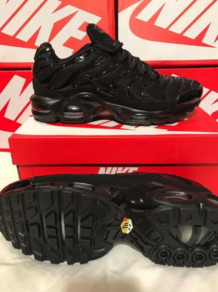 Nike tns All Black New In Box Tn AirMax Plus Trainers  aa6163054