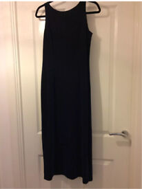 Next Christmas Party/Special Occasion Blue Shimmer Dress Size UK12 Midi
