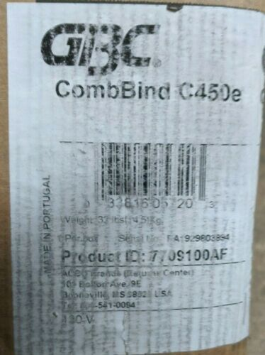 Swingline GBC CombBind C450E - Electric binding machine (Black)