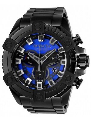 Invicta 63mm Grand Octane Coalition Forces Stealth Combat Black BLUE Watch