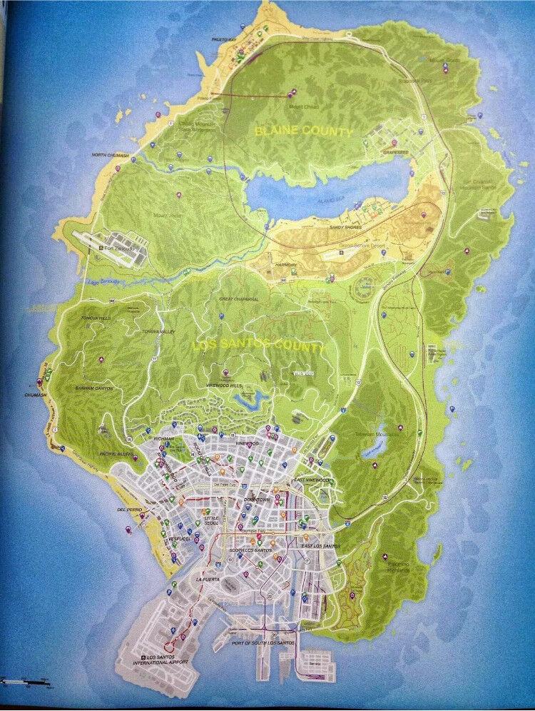 Map Of Los Santos GTA 5 (V) Los Santos Map | in Camborne, Cornwall | Gumtree Map Of Los Santos
