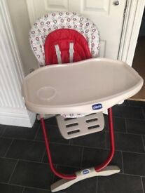 Chico magic high chair red