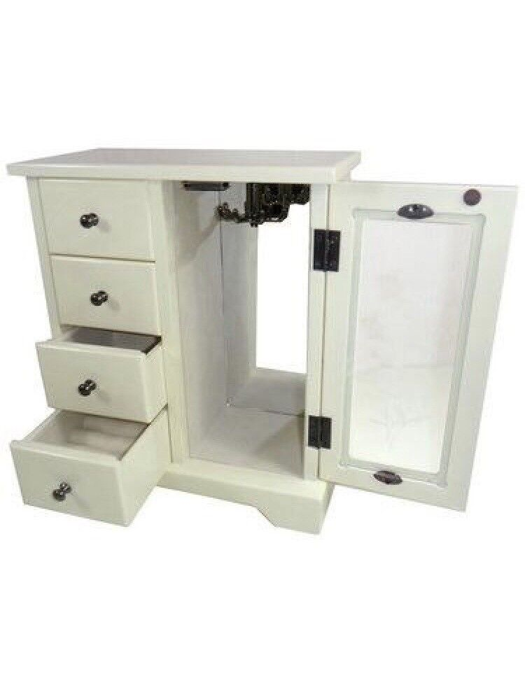 Cream Jewellery Box - Brand New In Box RRP: £24.95