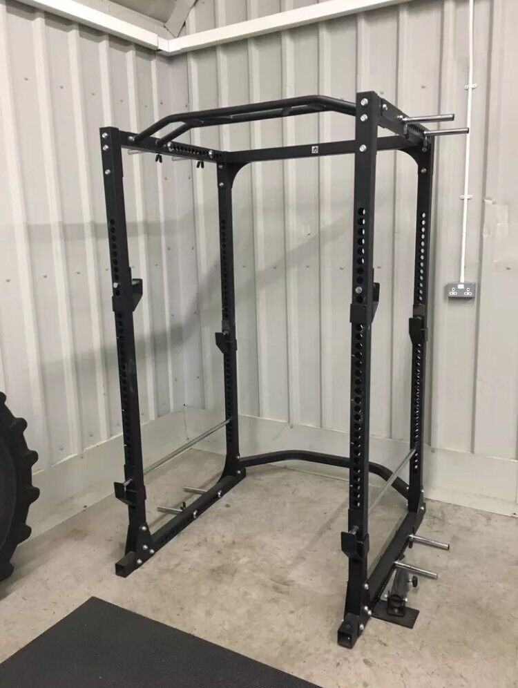 Strength Shop Thor Power Cage with Chin Bar Black Dip Handles and Band Pegs