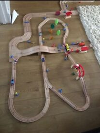 Wooden Road / Car and Rail / Train Set from ELC