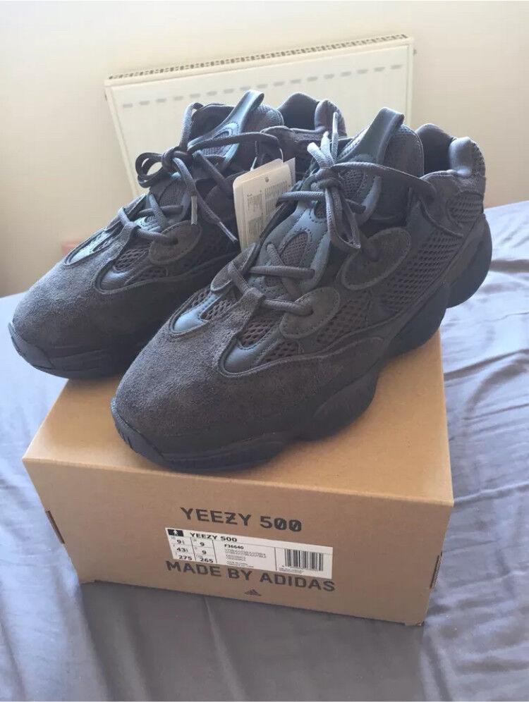 2a3524811df6c Adidas Yeezy 500 utility black size 9 uk 100% authentic.