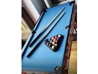 6in1 Games Table - Pool Push Hockey Soft Darts Football Goal Bean Bag Toss Targetable
