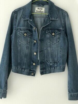 Acne Studios Jean Jacket Blue Denim Top Size 38 / M