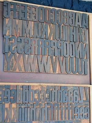 Letterpress Wood Printing Blocks 168 Pcs - 4.96 Tall Alphabet Type Woodtype Abc
