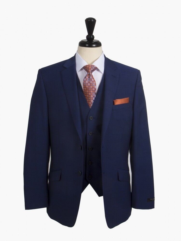 191fccc93cc0 Blue Ted Baker Elevated 3 piece Suit 36 inch rrp £275
