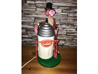 Extremely Rare Pink Panther Italian Gelati Lamp
