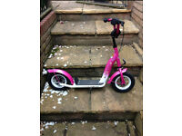 Bike Star Pink Scooter with brakes and inflatable tyres