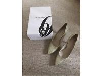 Nine West Silver Shoes; Size UK 6.5 (EU 39; US 8.5)