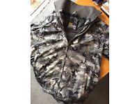 Crosshatch Mens Grey Camo Jacket, Large, Worn Once