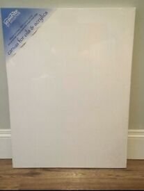 5 x Artists' Stretched Canvas' 60 x 80cm (New. Ex Shop Stock)