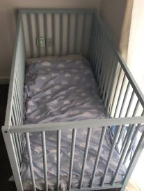 COT WITH MATRESS & BEDDING