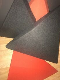 Soundproof triangles