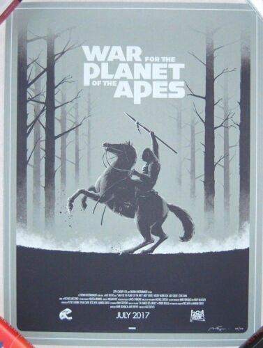 Matt Ferguson WAR FOR THE PLANET OF THE APES Screen Print Poster /40