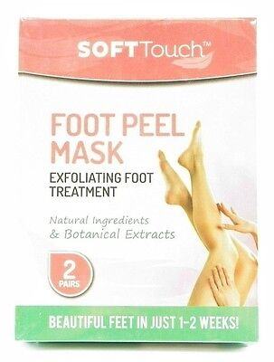 Soft Touch Foot Peel Mask Exfoliating Treatment Natural Feet Skin Beauty Health