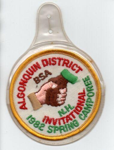 Vintage BOY SCOUTS 1982 ALGONQUIN District NH Invitational CAMPOREE BSA Patch