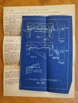 THE HOUDINI STOCK ESCAPE - Blueprint and instructions No. 155