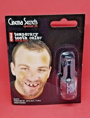 Cinema Halloween Party (Cinema Secrets Temporary Tooth Color, Black, 0.25 oz Halloween Party)
