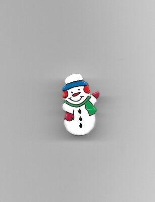 1 Wooden Snowman Button Sewing Scrapbook Craft 50449