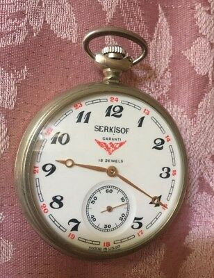 Serkisof Demiryolu Eisenban Türkei Train Mechanische Taschenuhr Pocket Watch