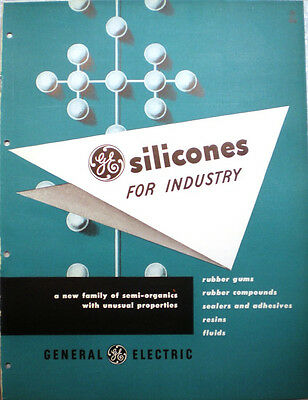 GE General Electric Silicone Catalog ASBESTOS Electrical Motor Insulation 1950's