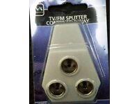 Masterplug TV / FM Splitter Combiner 3 way BRAND NEW