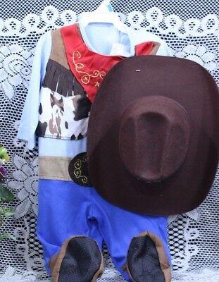 Baby Boy  Western Infant HAT & COWBOY PCS 12 mos NWT I-74 - Baby Boy Cowboy Kostüm