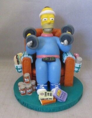 "Simpsons ""Mr. Fitness"" ~ Misadventures of Homer Sculpture Collection Figurine"