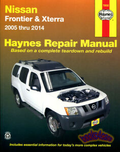 2001 nissan frontier pickup repair shop manual set original.
