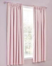 NEXT Girls Pink Blackout Pencil Pleat Curtains
