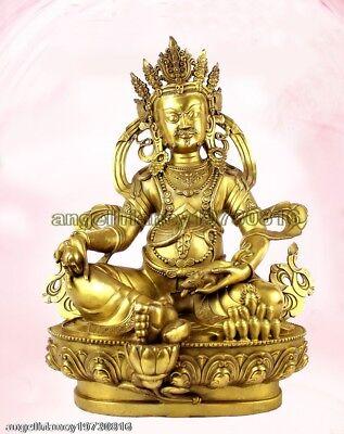 Bronze Bodhisattva Kwan-yin Buddha the God of Wealth Antiques Statue