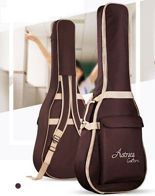US Folk Acoustic Guitar Gig Bag Soft Case Strap Backpack for 40