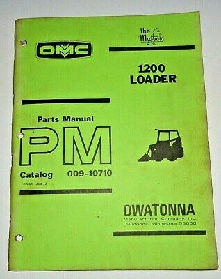 Omc Mustang 1200 Skid Steer Loader Parts Manual Catalog Book 673 Original