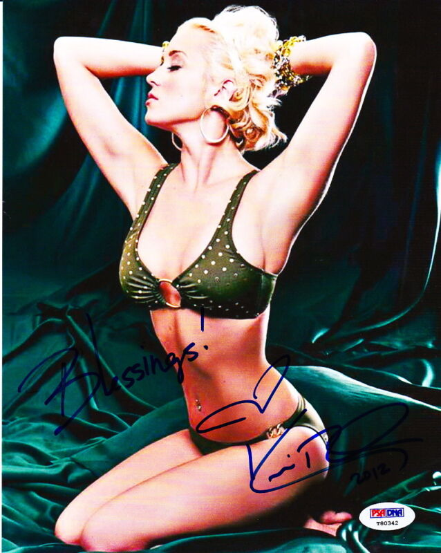 KELLIE PICKLER signed autographed 8x10 bikini photo PSA DNA COA Country model