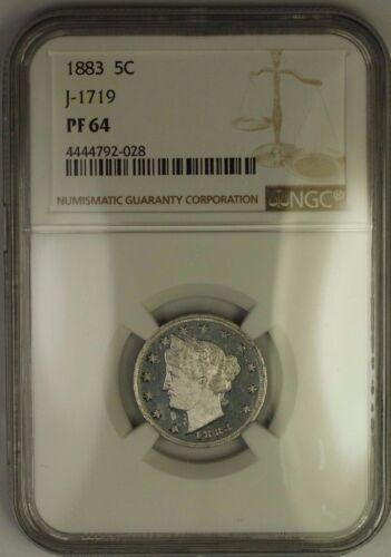 1883 Liberty V Nickel Pattern Proof 5c Coin Ngc Pf-64 J-1719 Judd Ww
